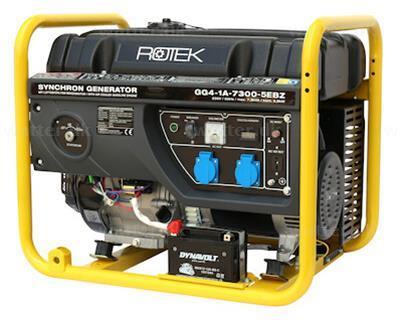 Rotek Benzin Generator 230 Volt 50 Hz/1-Faset, 7,3 kVA