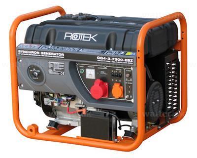 Rotek GG4-3-7300-EBZ Benzin Generator 400(230)V / 7,3(2.4) kVA