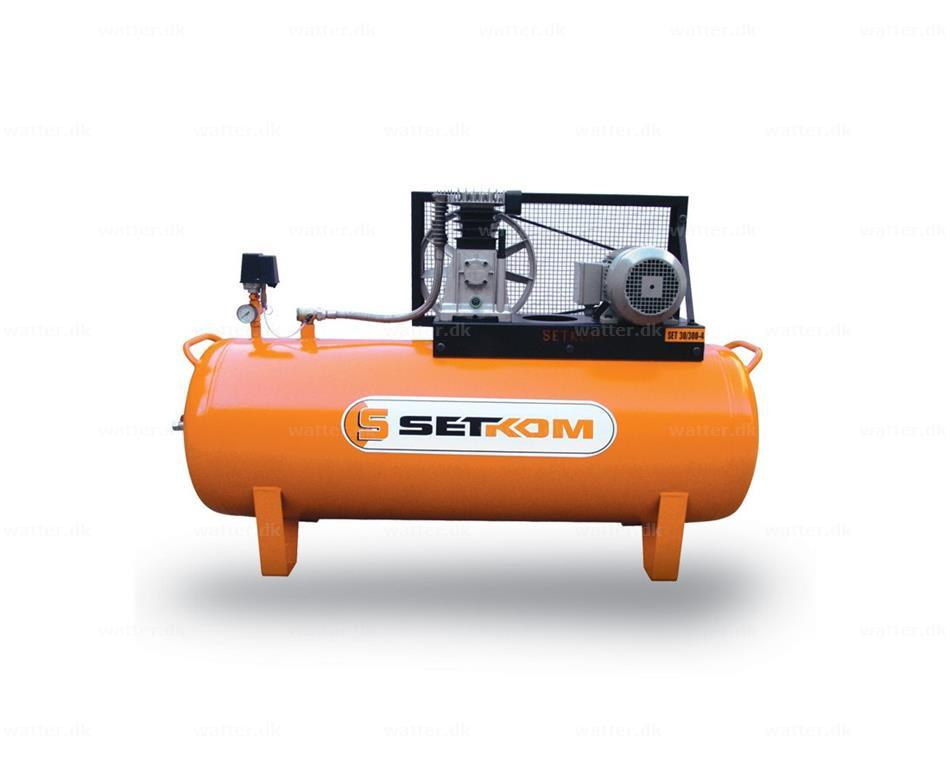 2-trins stempelkompressor, SET40-200-4 / 3kW, 12bar