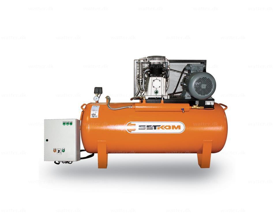 2-trins stempelkompressor, SET60-500-710P / 7,5kW, 12bar