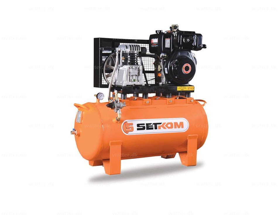 Diesel/Benzin, SET40-150-DIZ, Stempelkompressor / 5hk, 12bar