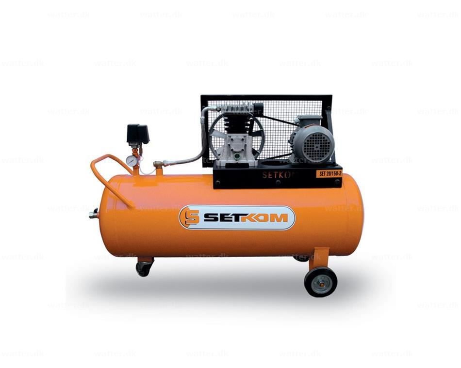 SETKOM Stempelkompressor, SET20-150-2 / 270 l/min, 9bar