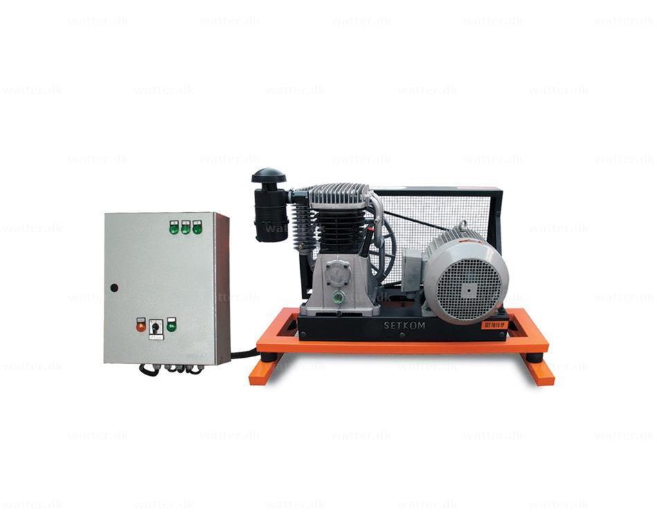 Industrikompressor, SET50-5,5P / 653 l/min, 12bar
