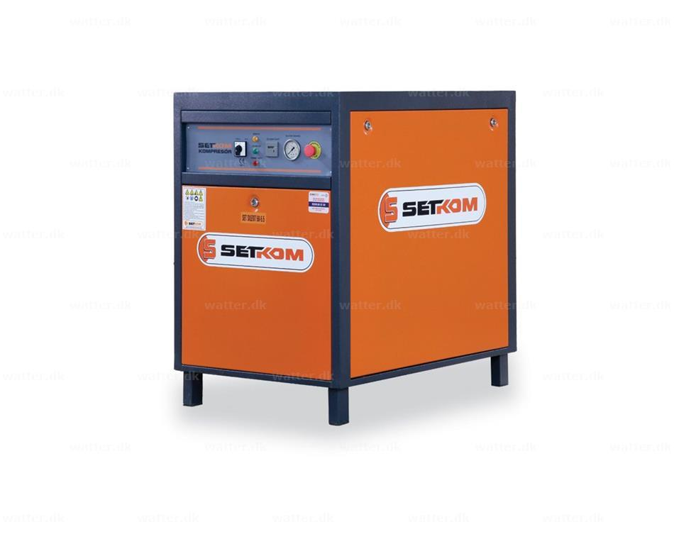Støjsvag SETKOM Kompressor, SIL60-7,5 / 5,5kW, 68Db