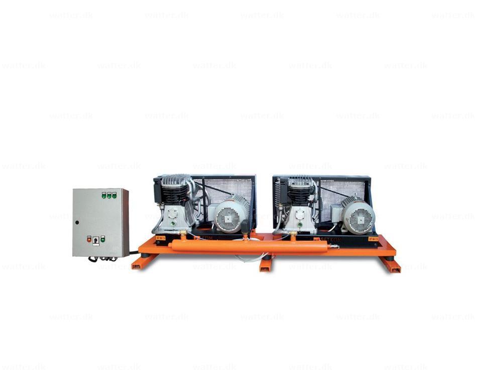 Industrikompressor, SET2X60-2X7,5P / 1654 l/min, 12bar