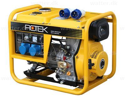 Rotek GD4-1A-6000-5EBZ Diesel Generator 230 Volt / 5,5 kVA