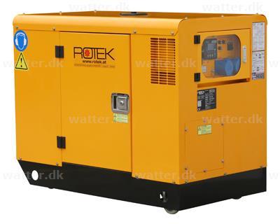 Rotek GD4SS-1A-13000-ES Diesel Generator 230 Volt / 13,7 kVA