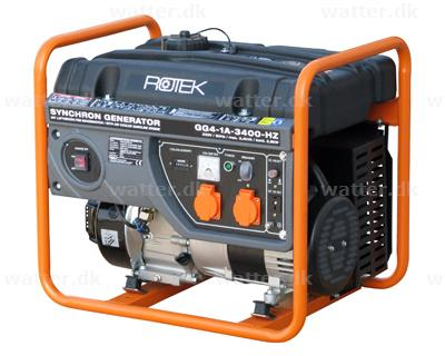 rotek benzindrevet generator 230 volt 1 faset 3 4 kva. Black Bedroom Furniture Sets. Home Design Ideas