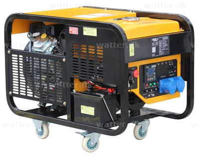 Rotek Benzin Generator 230 Volt/1-faset, 12,0 kVA