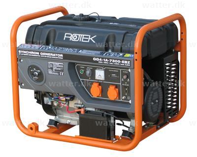 Rotek Benzin Generator 230 Volt/1-faset, 7,3 kVA