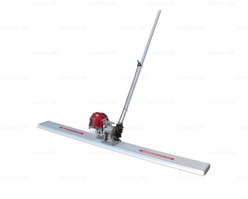 Gulvvibrator/afretter 2 meter flad benzin