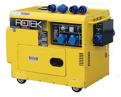 Rotek GD4SS-1A-6000-EBWZ-ATS diesel generator 6 kVA 230V 50Hz