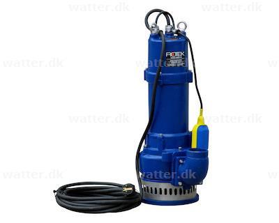 Rotek dykpumpe 230V 1,5kW med kurv