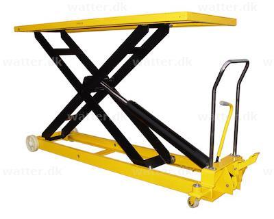 Rotek løftebord med 1000 kg kapacitet og 1400 mm bordhøjde