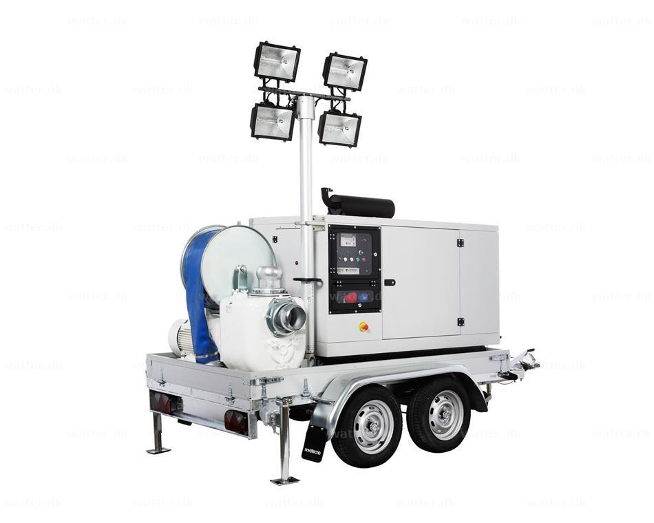 Lampo pumpetrailer - Komplet pumpesæt op til 1200 m³/time