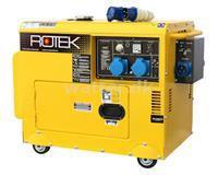 Rotek Diesel Generator 230 Volt 50 Hz/1-faset 5,5 KVA med ATS