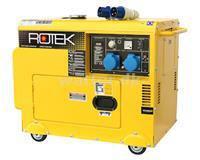 Rotek Diesel Generator 230 Volt 50 Hz/1-faset 5,5 KVA
