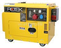 Rotek Diesel Generator 400(230) Volt 50 Hz/3-faset 5,5(1,8) KVA med ATS