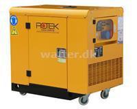 Rotek Benzin Generator Med Luftkølet 2-Cylinder og 400 Volt 50 Hz/3-Faset, 12 KVA