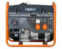 Rotek Benzin Generator 230 Volt/1-faset, 3,4 kVA