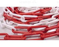 Afspærringskæde plastik rød/hvid